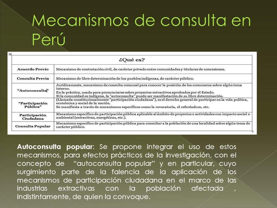 Mecanismos de consulta en Perú