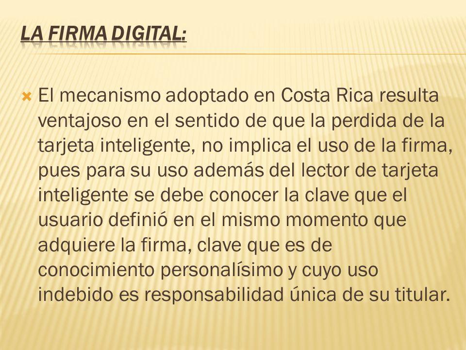 La firma digital: