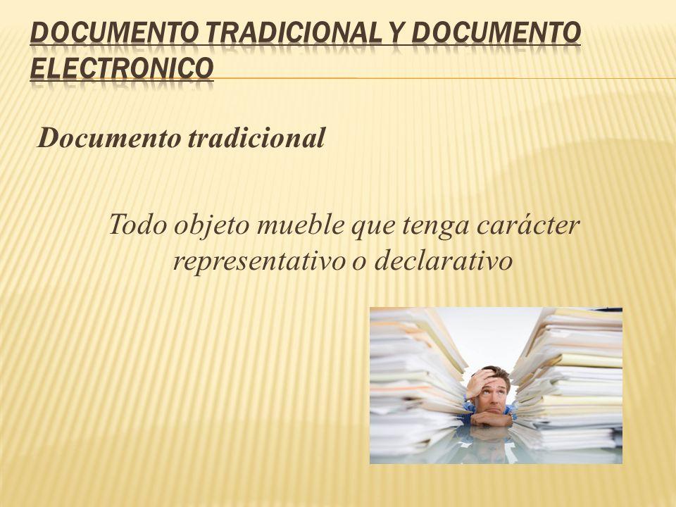DOCUMENTO TRADICIONAL Y DOCUMENTO Electronico