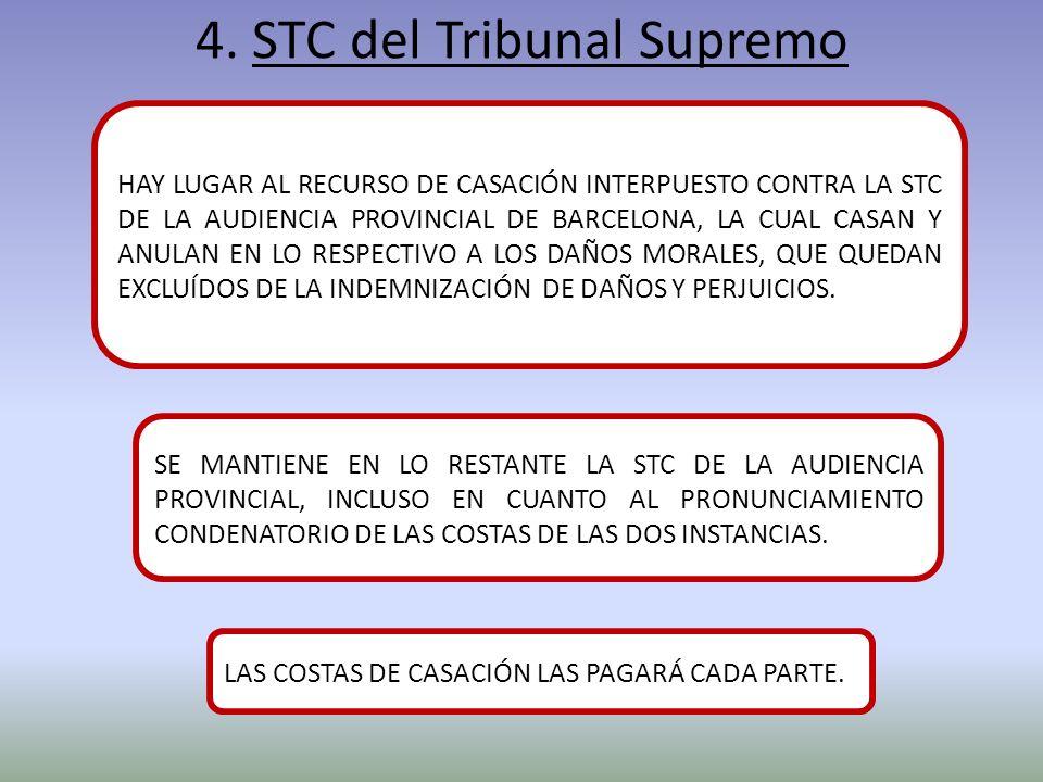 4. STC del Tribunal Supremo