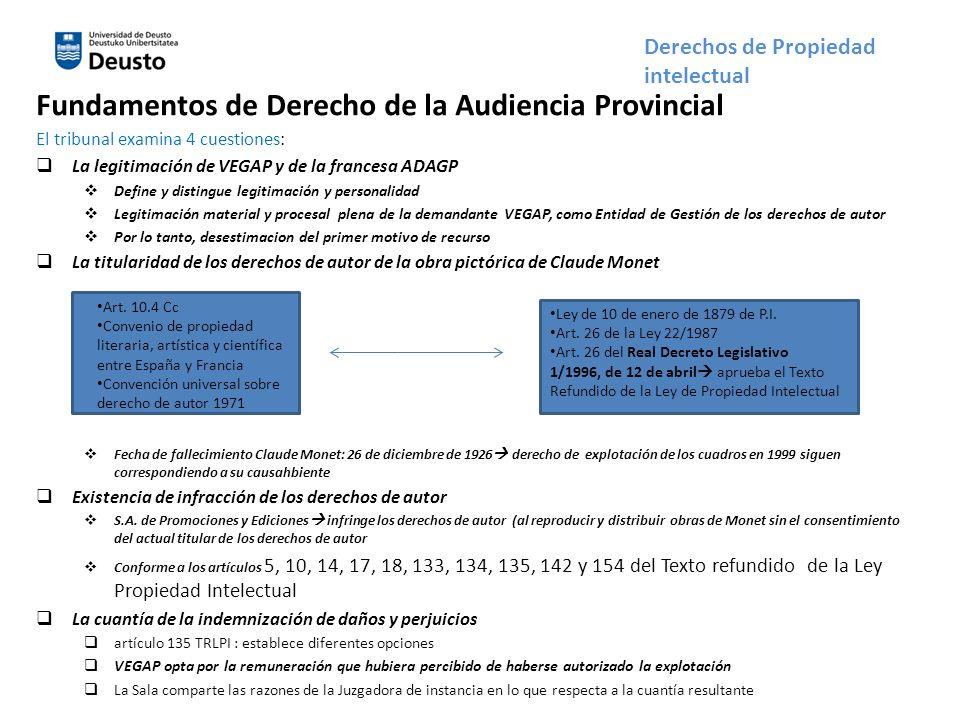 Fundamentos de Derecho de la Audiencia Provincial