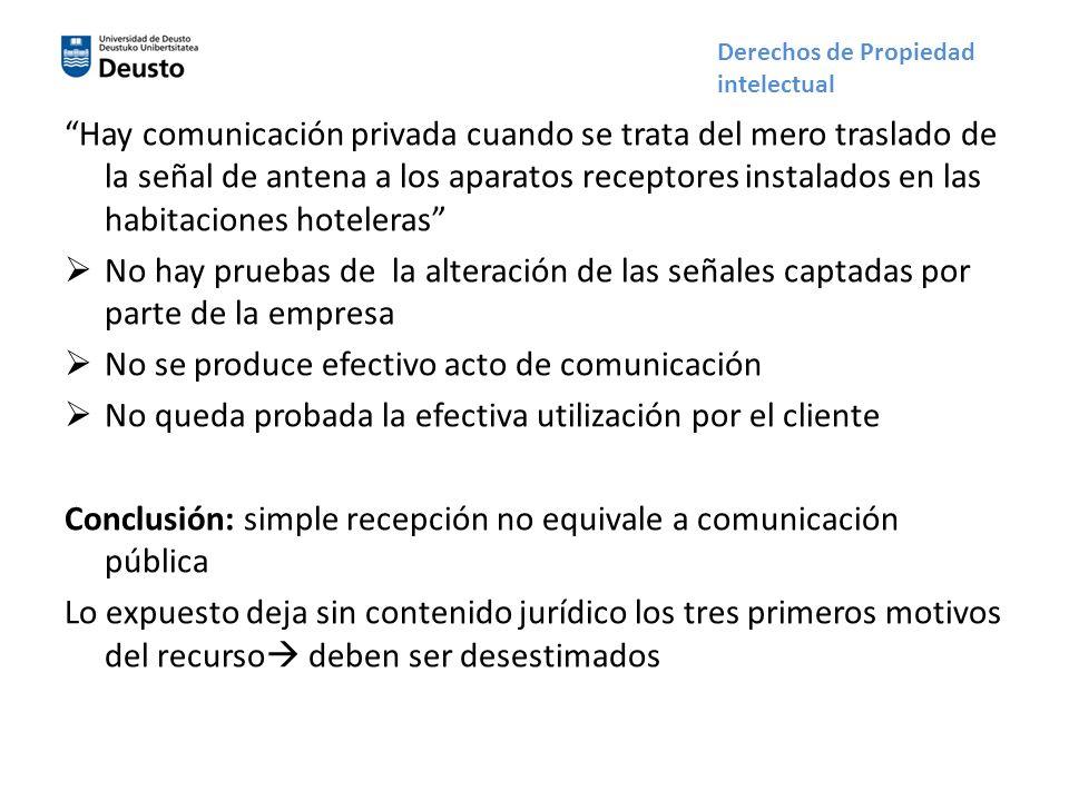 No se produce efectivo acto de comunicación