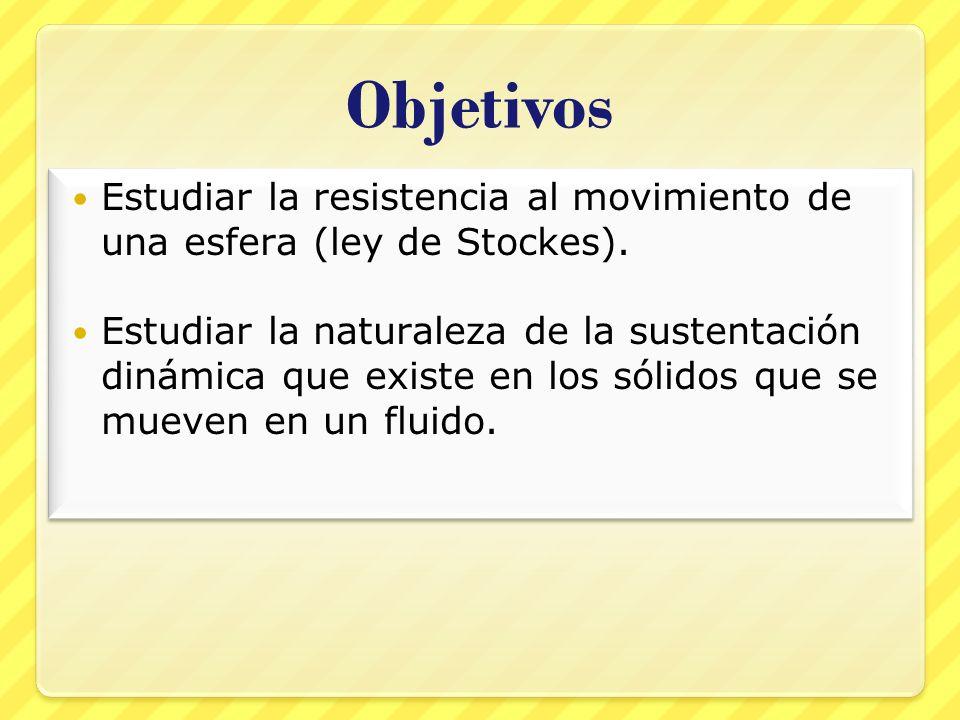 Objetivos Estudiar la resistencia al movimiento de una esfera (ley de Stockes).