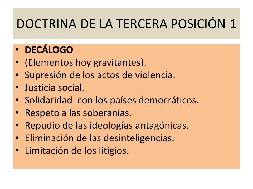 DOCTRINA DE LA TERCERA POSICIÓN 1