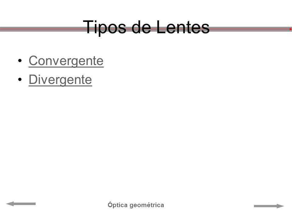 Tipos de Lentes Convergente Divergente Óptica geométrica