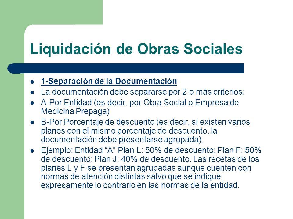 Liquidación de Obras Sociales