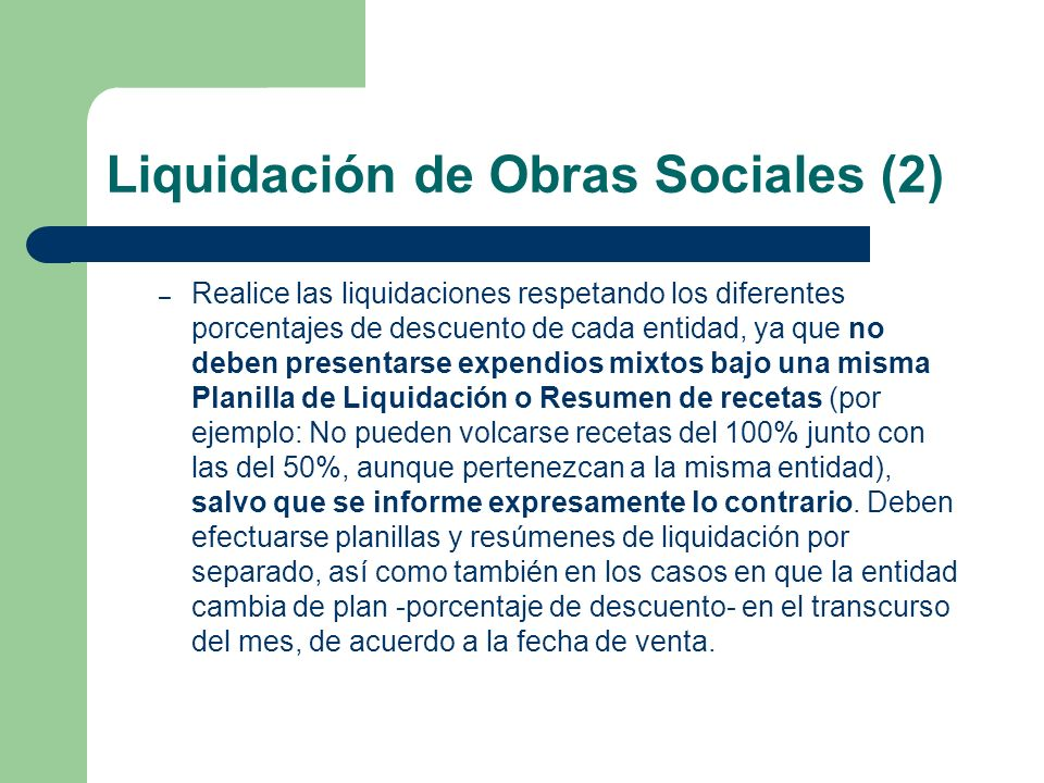 Liquidación de Obras Sociales (2)