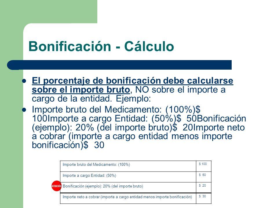 Bonificación - Cálculo