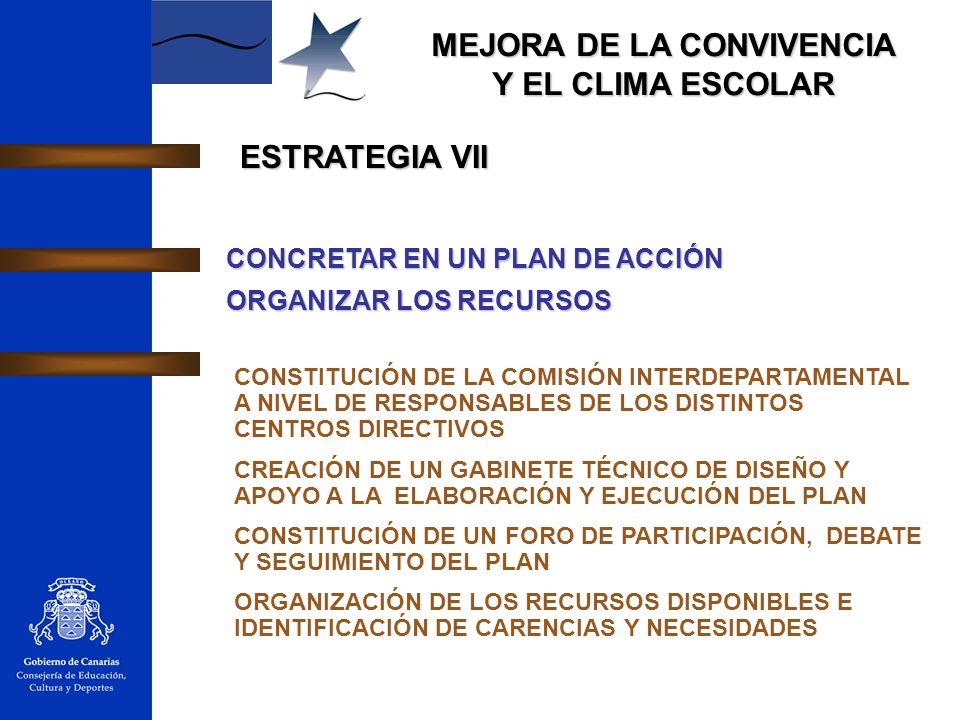 ESTRATEGIA VII CONCRETAR EN UN PLAN DE ACCIÓN ORGANIZAR LOS RECURSOS