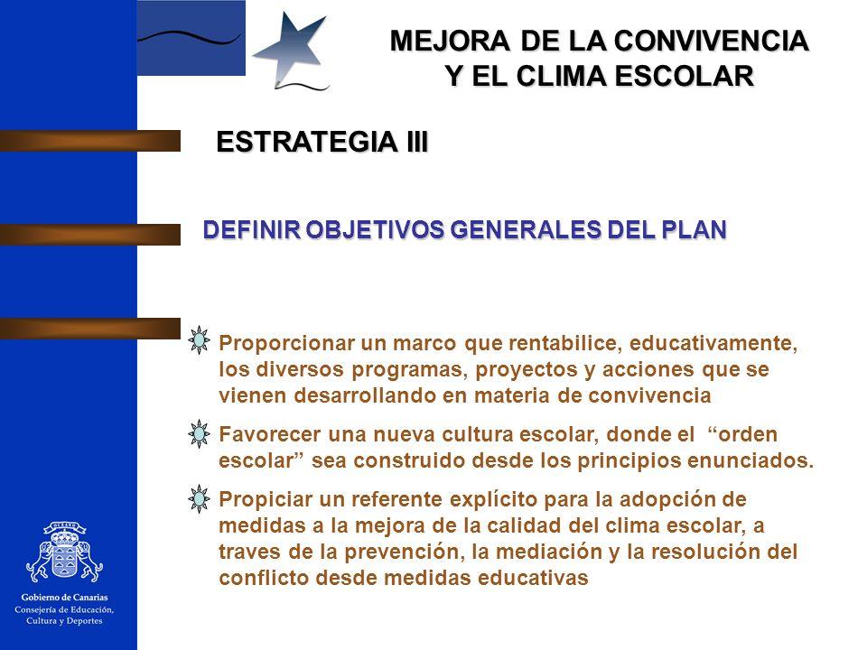 ESTRATEGIA III DEFINIR OBJETIVOS GENERALES DEL PLAN