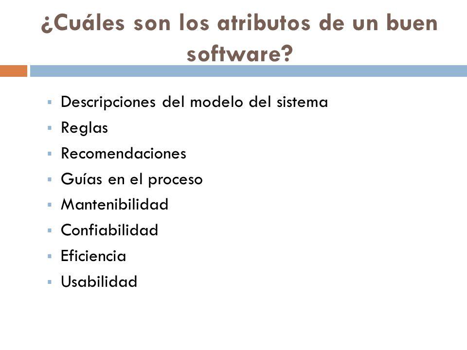 ¿Cuáles son los atributos de un buen software