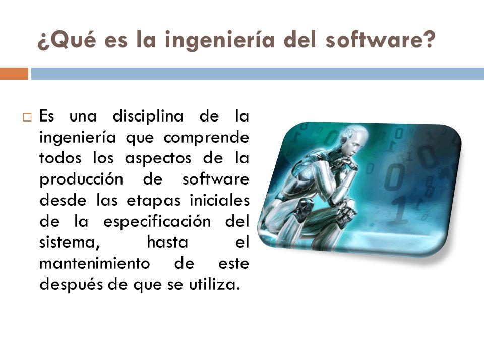 ¿Qué es la ingeniería del software