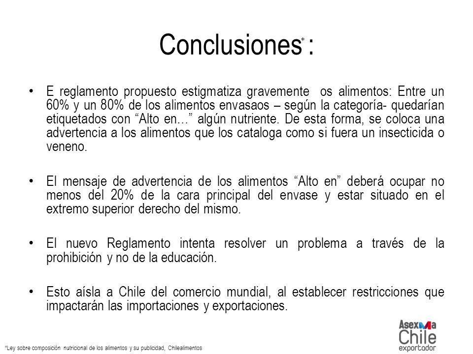 Conclusiones : *