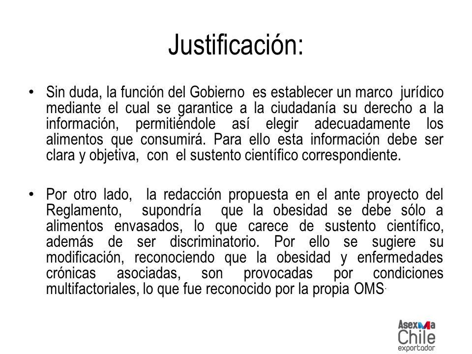 Justificación: