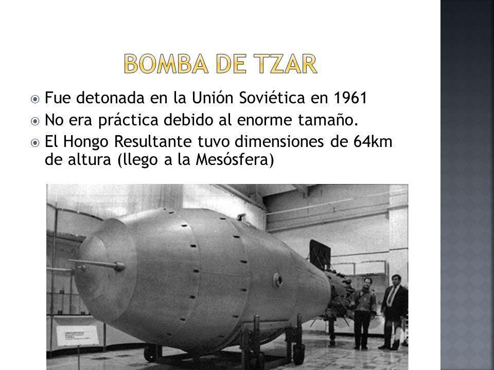 Bomba de Tzar Fue detonada en la Unión Soviética en 1961