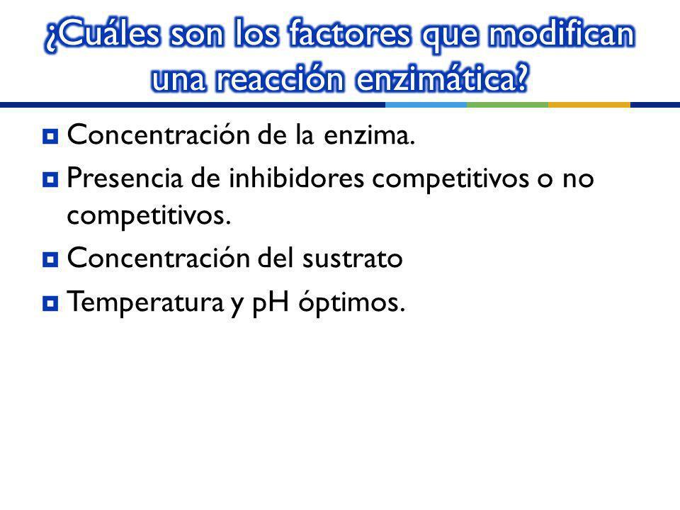 ¿Cuáles son los factores que modifican una reacción enzimática