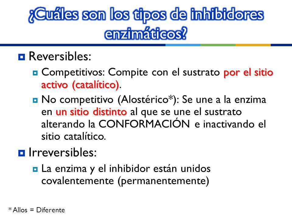 ¿Cuáles son los tipos de inhibidores enzimáticos