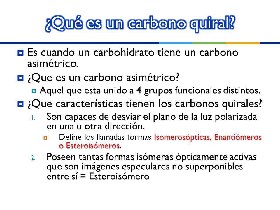 ¿Qué es un carbono quiral