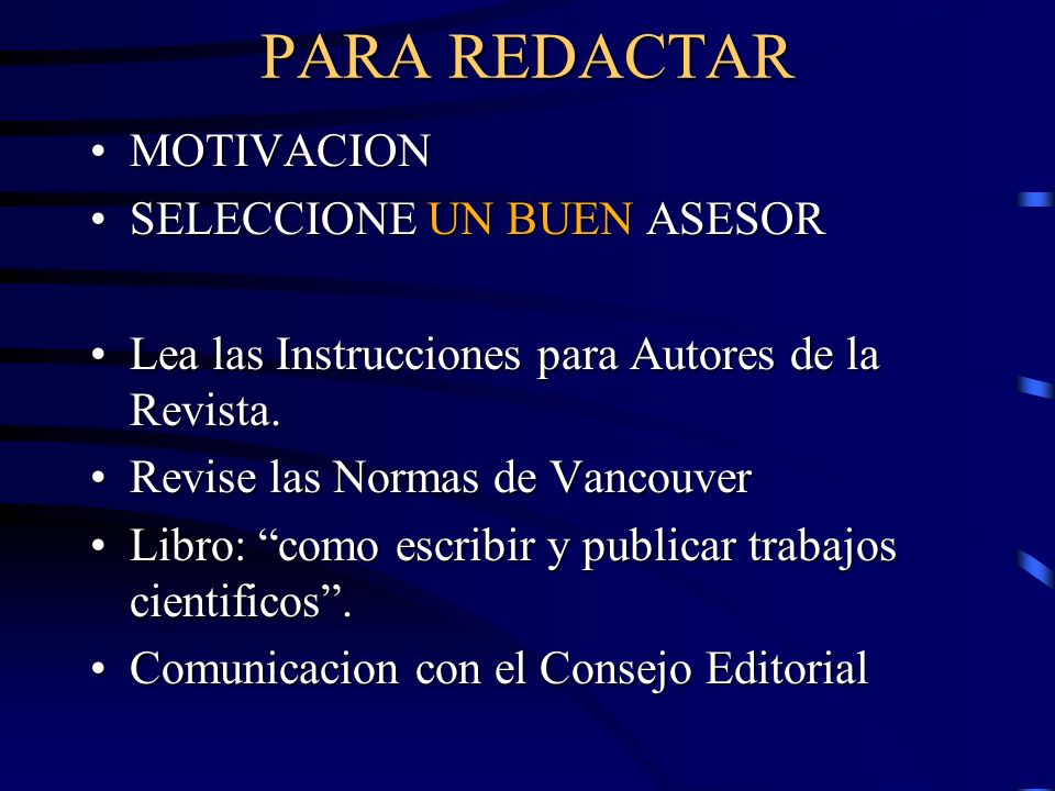 PARA REDACTAR MOTIVACION SELECCIONE UN BUEN ASESOR