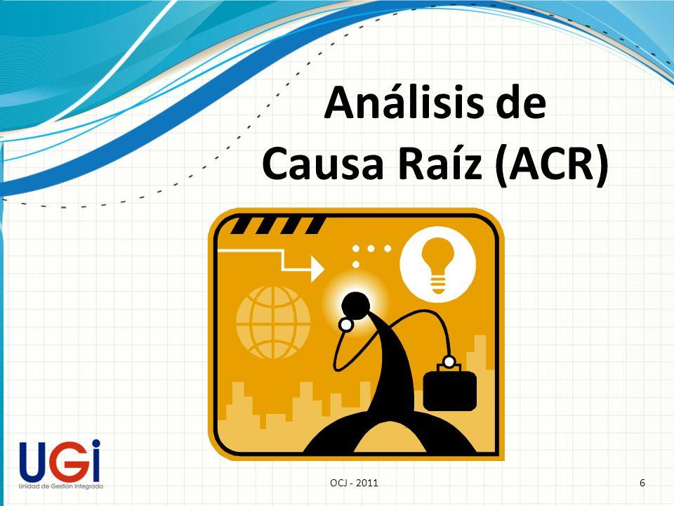 Análisis de Causa Raíz (ACR)