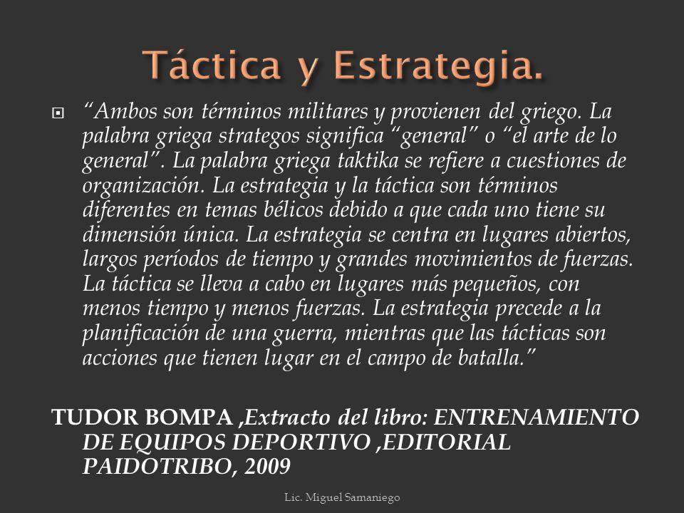 Táctica y Estrategia.