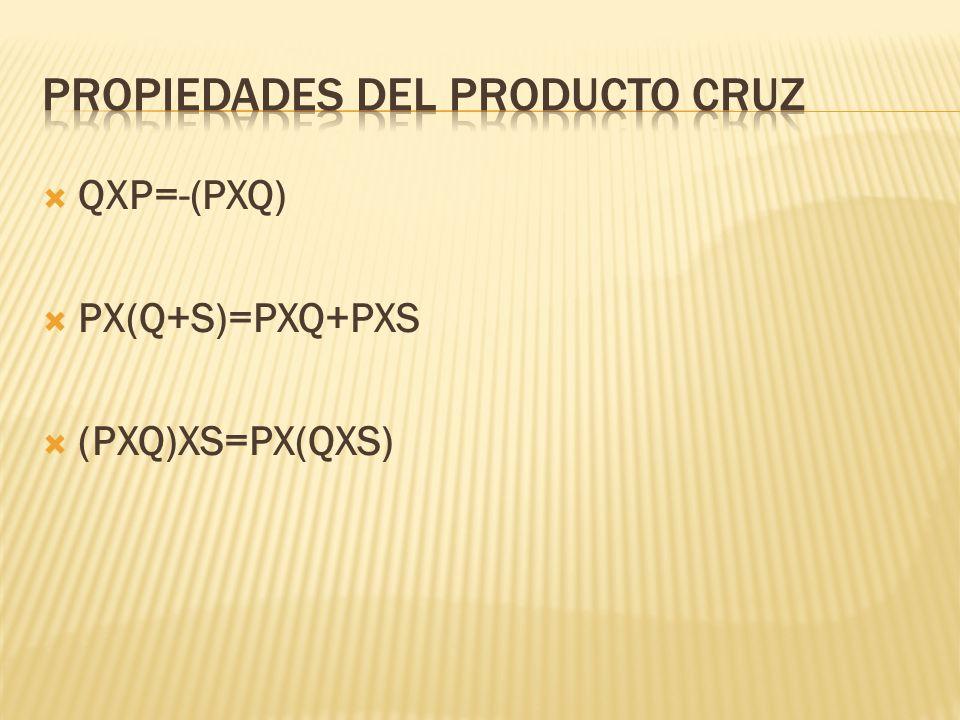 Propiedades del producto cruz