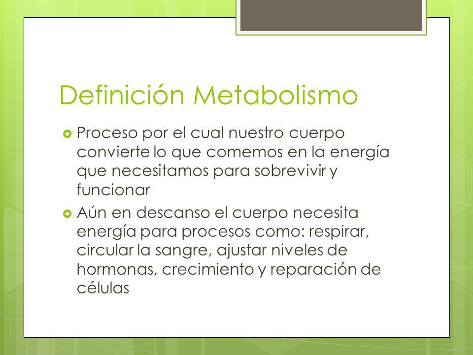 Definición Metabolismo