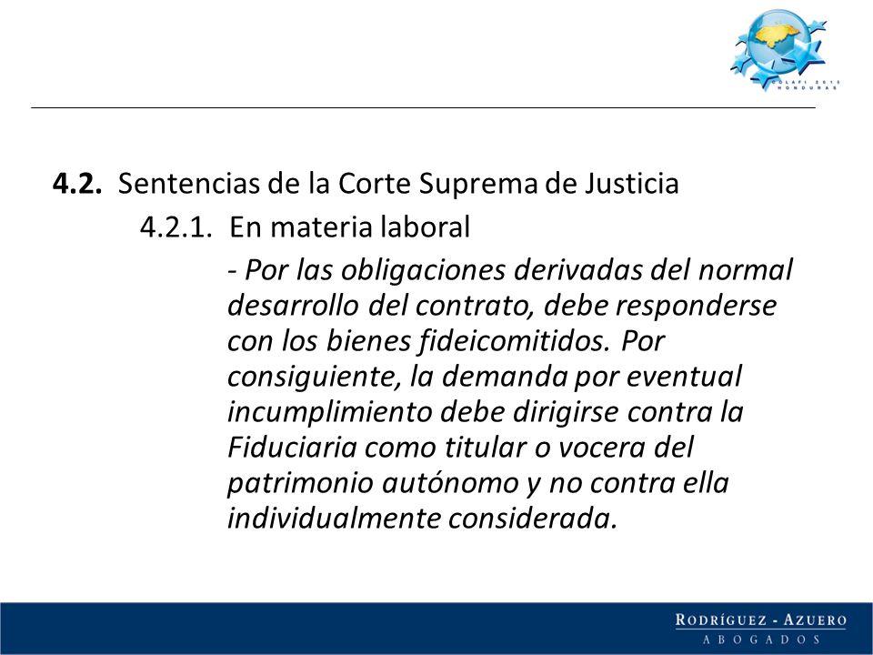 4.2. Sentencias de la Corte Suprema de Justicia