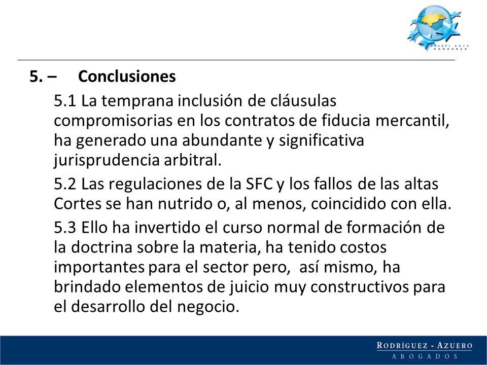 5. – Conclusiones