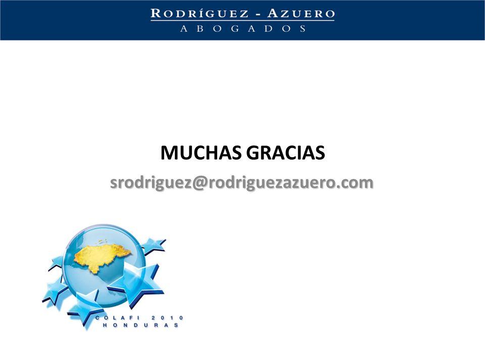 MUCHAS GRACIAS srodriguez@rodriguezazuero.com