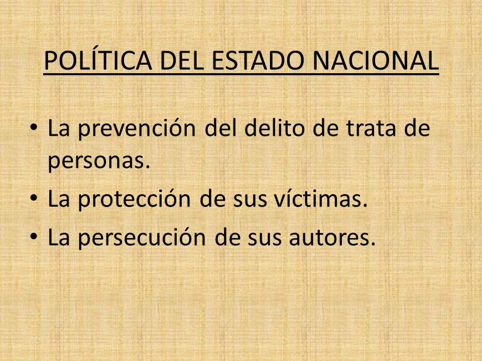 POLÍTICA DEL ESTADO NACIONAL