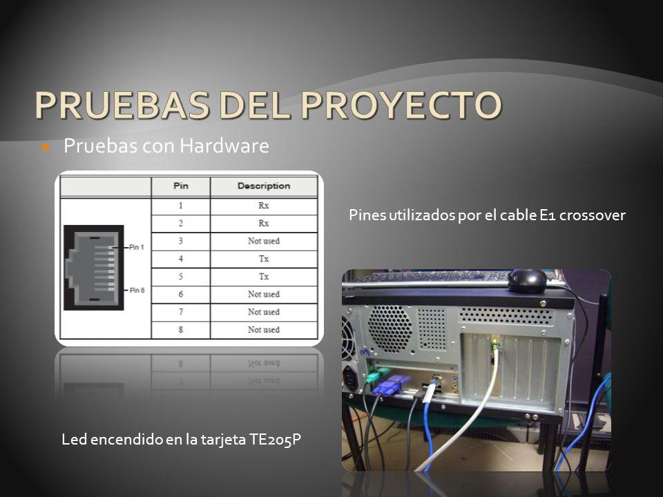 PRUEBAS DEL PROYECTO Pruebas con Hardware