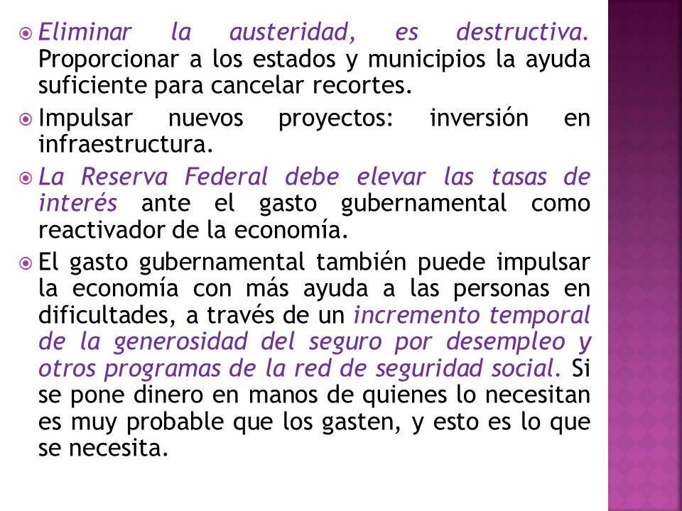 Eliminar la austeridad, es destructiva