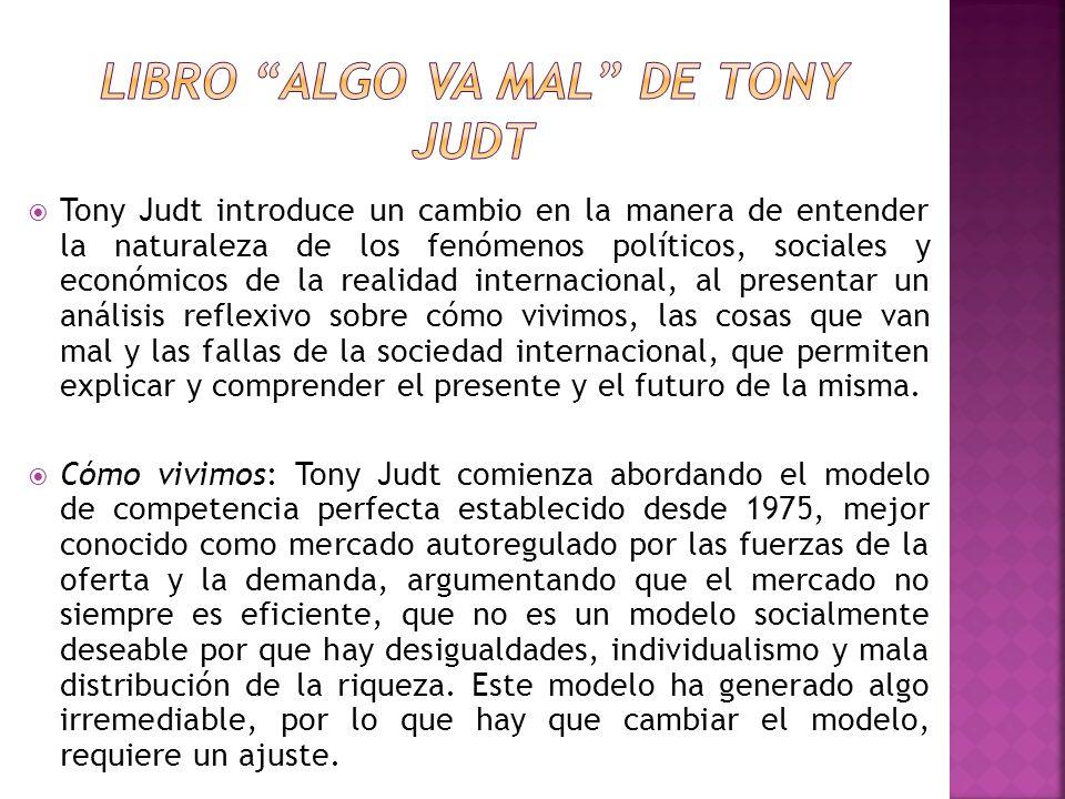 libro Algo va mal de Tony Judt