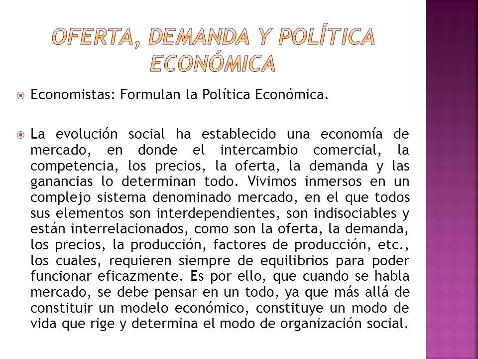 OFERTA, DEMANDA Y POLÍTICA ECONÓMICA