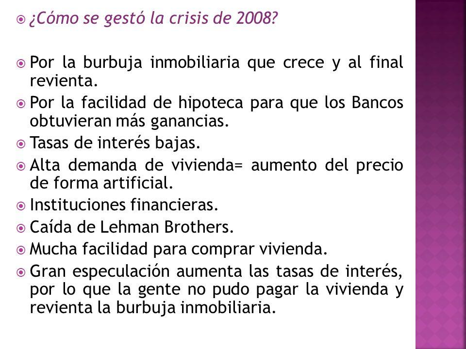 ¿Cómo se gestó la crisis de 2008