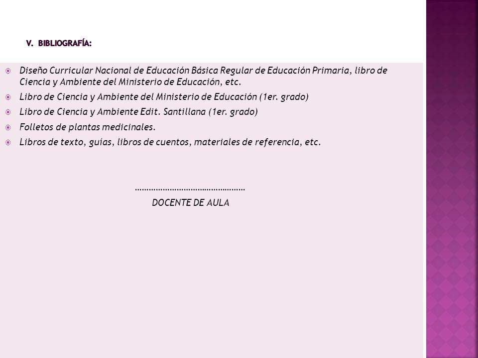 Libro de Ciencia y Ambiente del Ministerio de Educación (1er. grado)