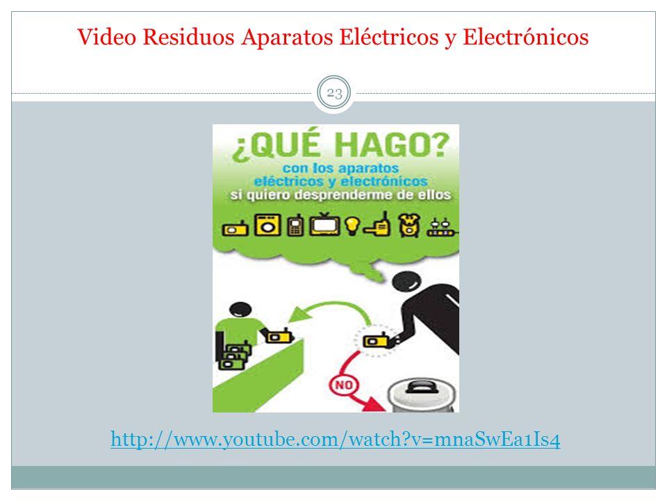 Video Residuos Aparatos Eléctricos y Electrónicos