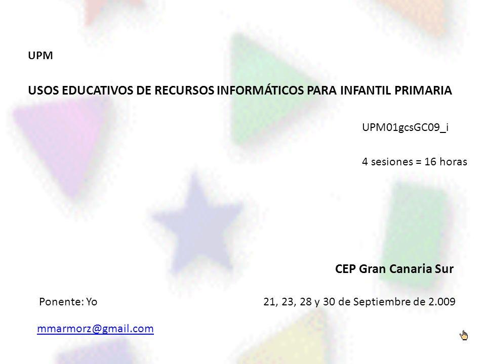 USOS EDUCATIVOS DE RECURSOS INFORMÁTICOS PARA INFANTIL PRIMARIA