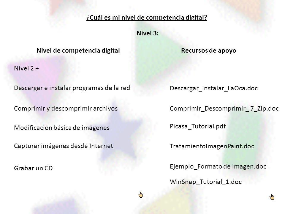¿Cuál es mi nivel de competencia digital Nivel de competencia digital