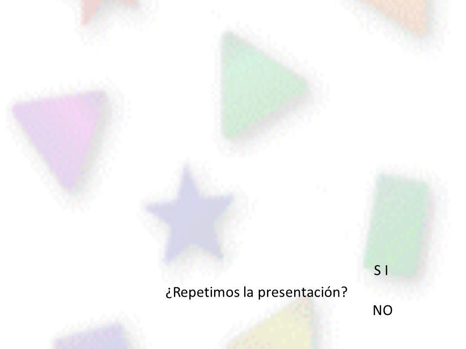 N F S I ¿Repetimos la presentación NO I