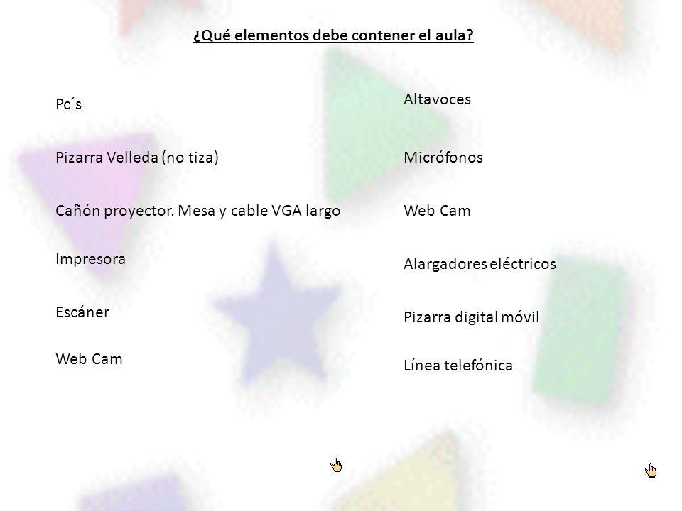 ¿Qué elementos debe contener el aula