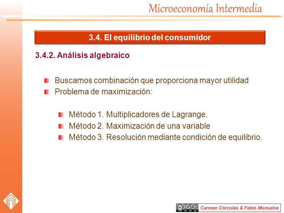 3.4. El equilibrio del consumidor