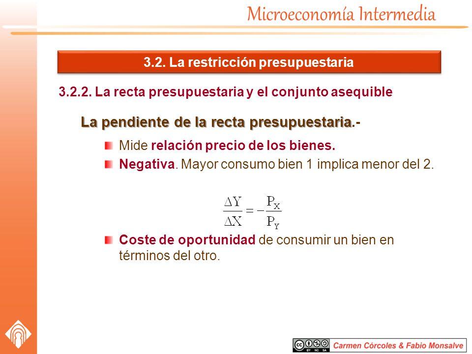 3.2. La restricción presupuestaria