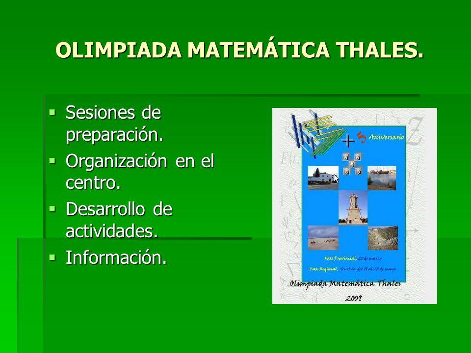 OLIMPIADA MATEMÁTICA THALES.