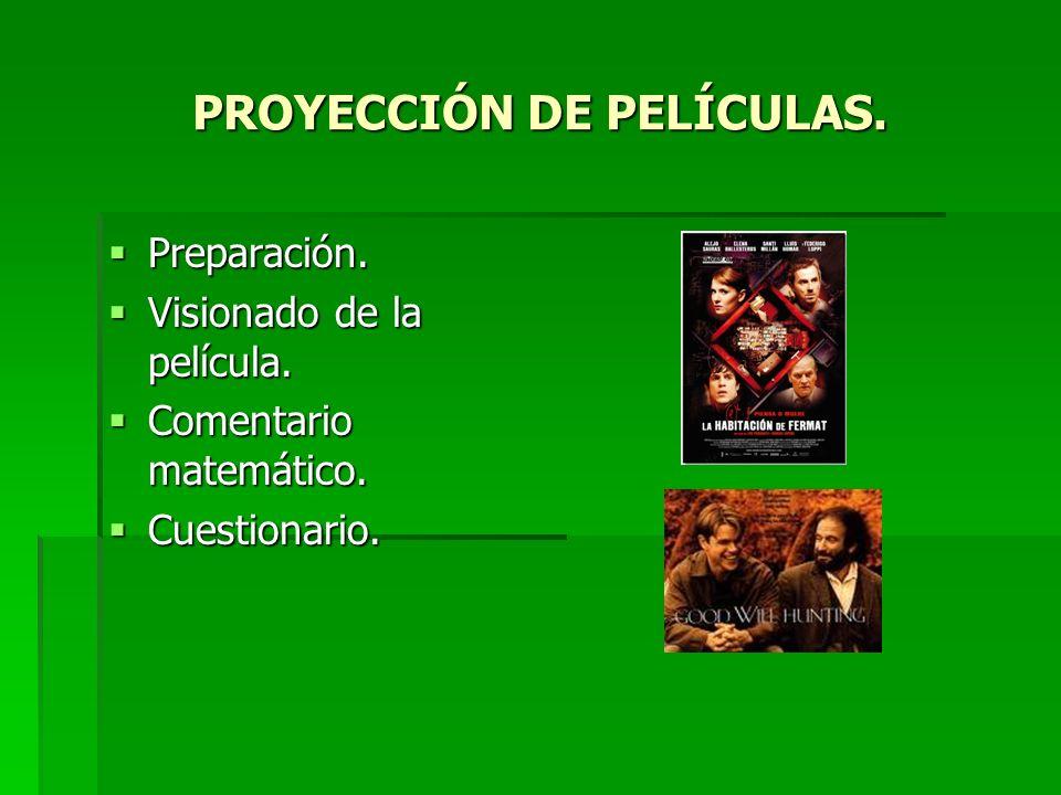 PROYECCIÓN DE PELÍCULAS.