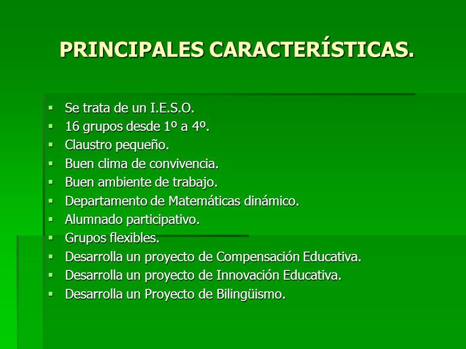 PRINCIPALES CARACTERÍSTICAS.