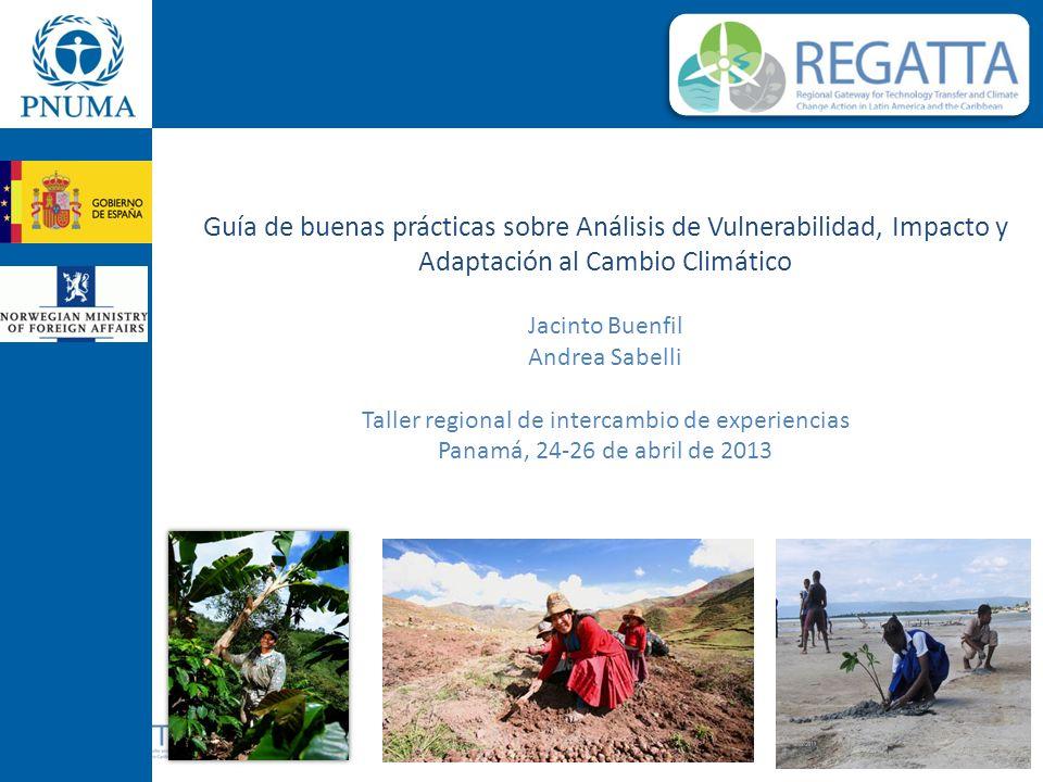 Guía de buenas prácticas sobre Análisis de Vulnerabilidad, Impacto y Adaptación al Cambio Climático Jacinto Buenfil Andrea Sabelli Taller regional de intercambio de experiencias Panamá, 24-26 de abril de 2013