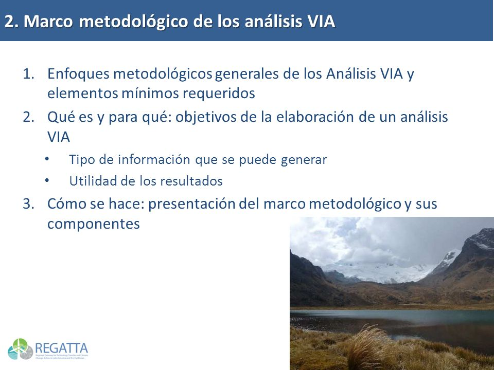 2. Marco metodológico de los análisis VIA