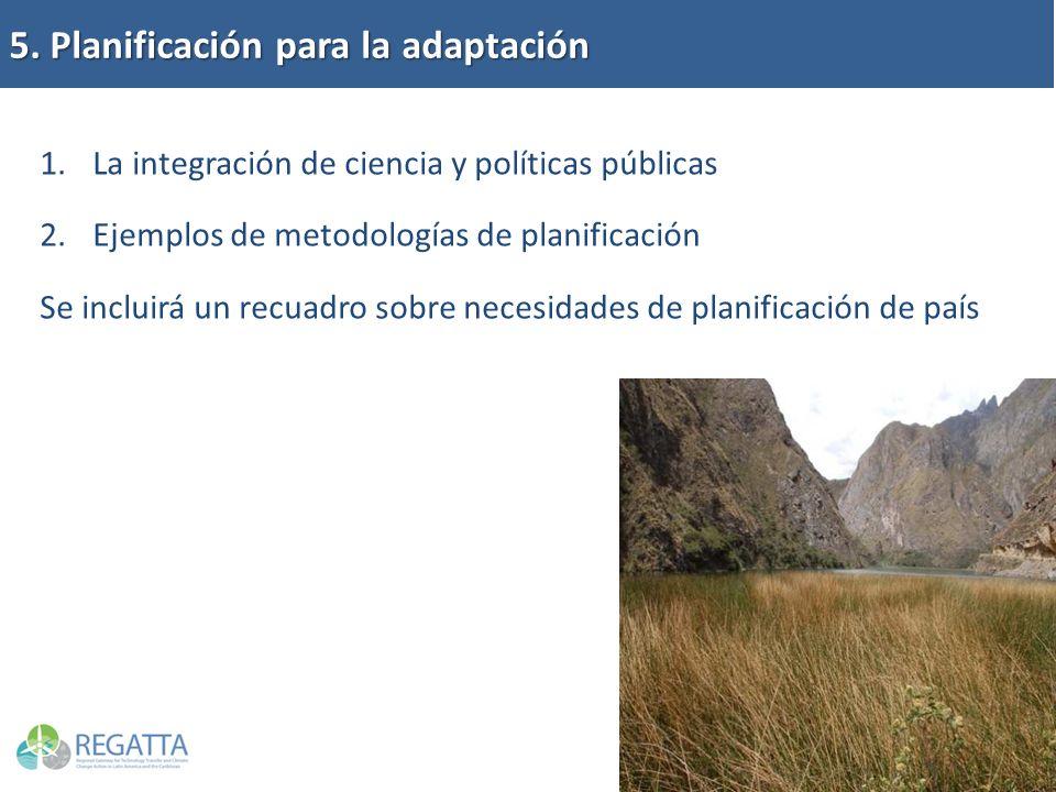 5. Planificación para la adaptación